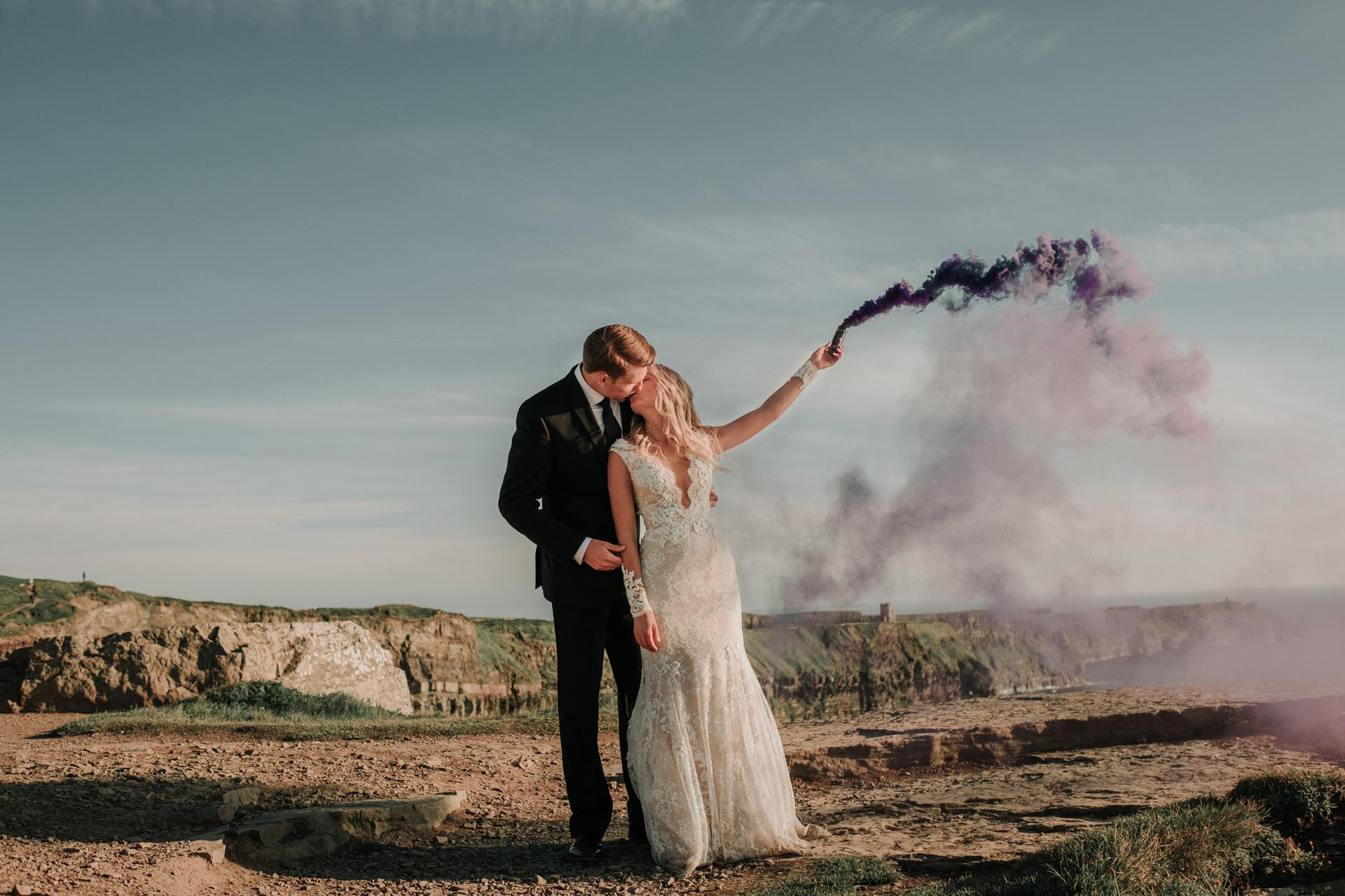 A Wedding At The Cliffs Of Moher Megan Amp Jake David