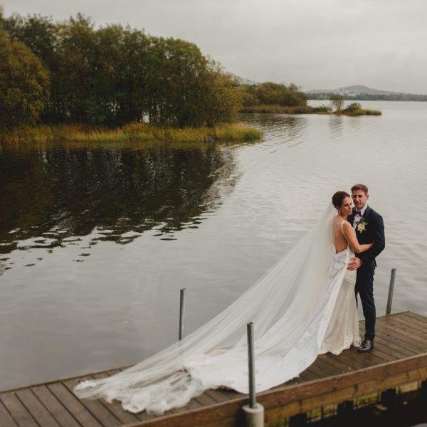 Actress Aoibheann McCaul & GAA star Brian Farrell's | Virginia Park Lodge wedding